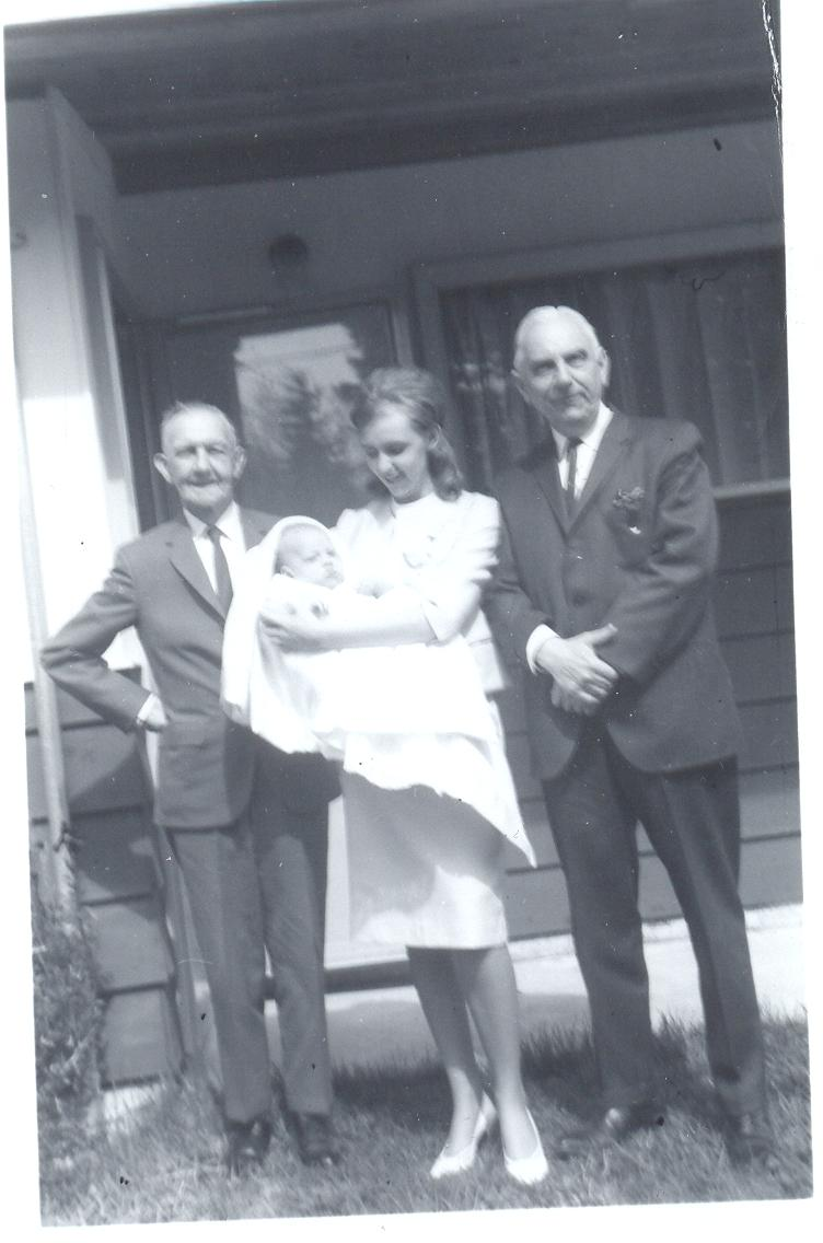 My Mother Heather  with me Her Father and His Father